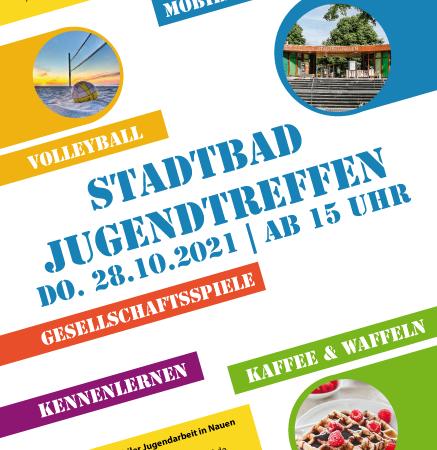 Stadtbad Jugendtreffen am Do. 28.10.21 ab 15 Uhr